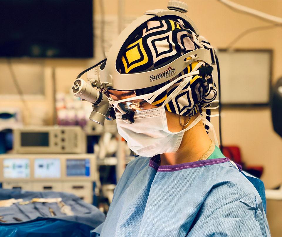 Dr. Yula Indeyeva performing surgery