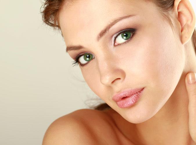 woman posing showing facial contours